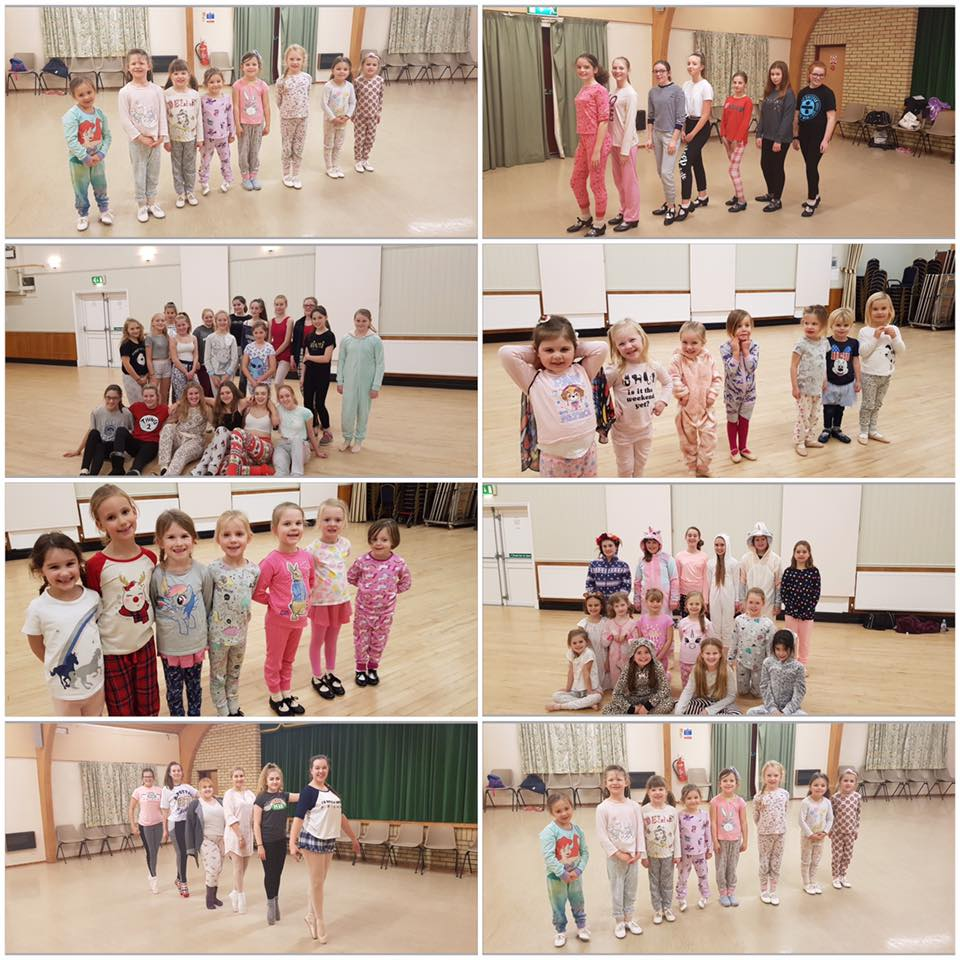 dancers Janet Foulsham School of Dancing raising a massive £268 and donating 66 pairs of pyjamas!!!!!