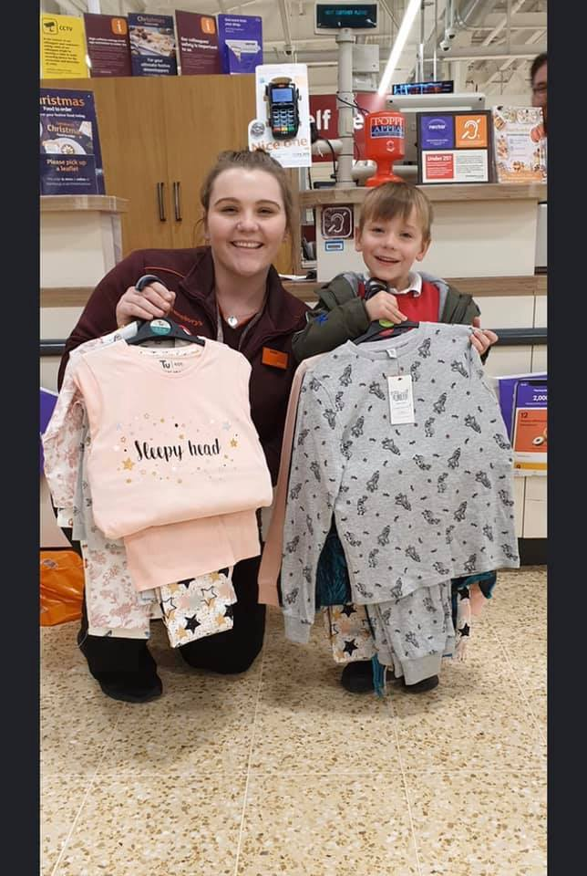 Thank you to Sainsbury's Tritton Road Lincoln for the very generous donation of pj's that you gave to our volunteer Jacqui yesterday. 💛