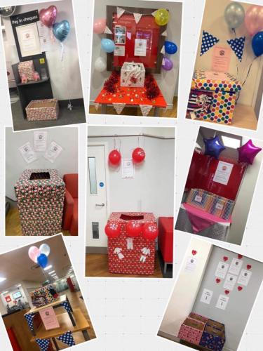 Amazing PJ Collection boxes in work places around London